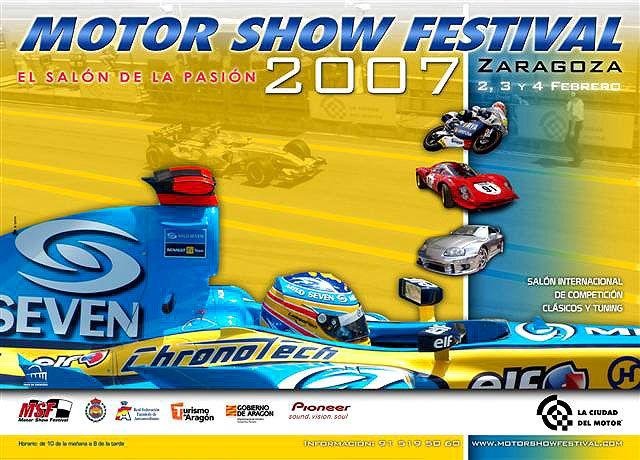 Cartel Motor Show Festival 2007 Zaragoza